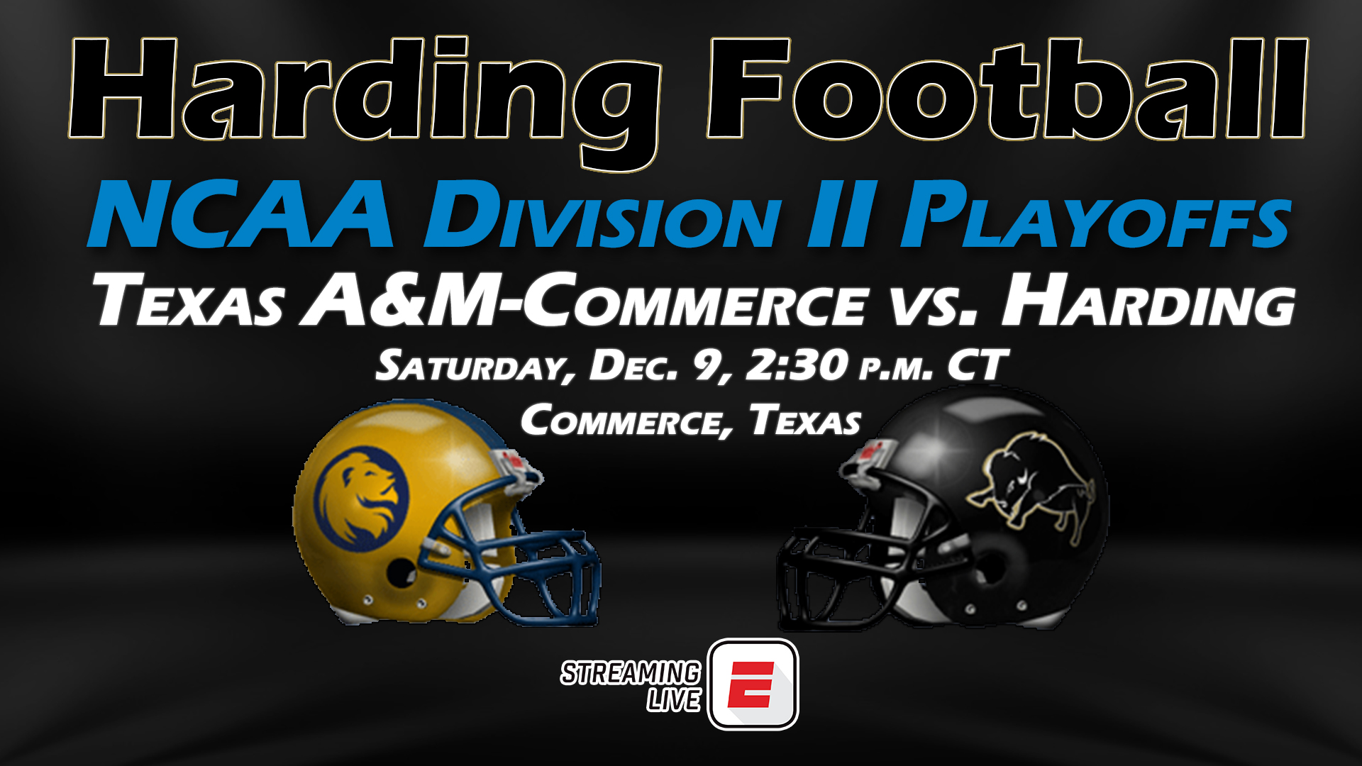 Am Commerce Campus Map.Harding Football Vs Texas A M Commerce Game Notes Harding